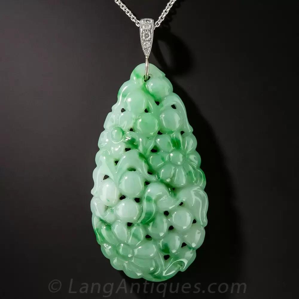 Carved Natural Jade Pendant