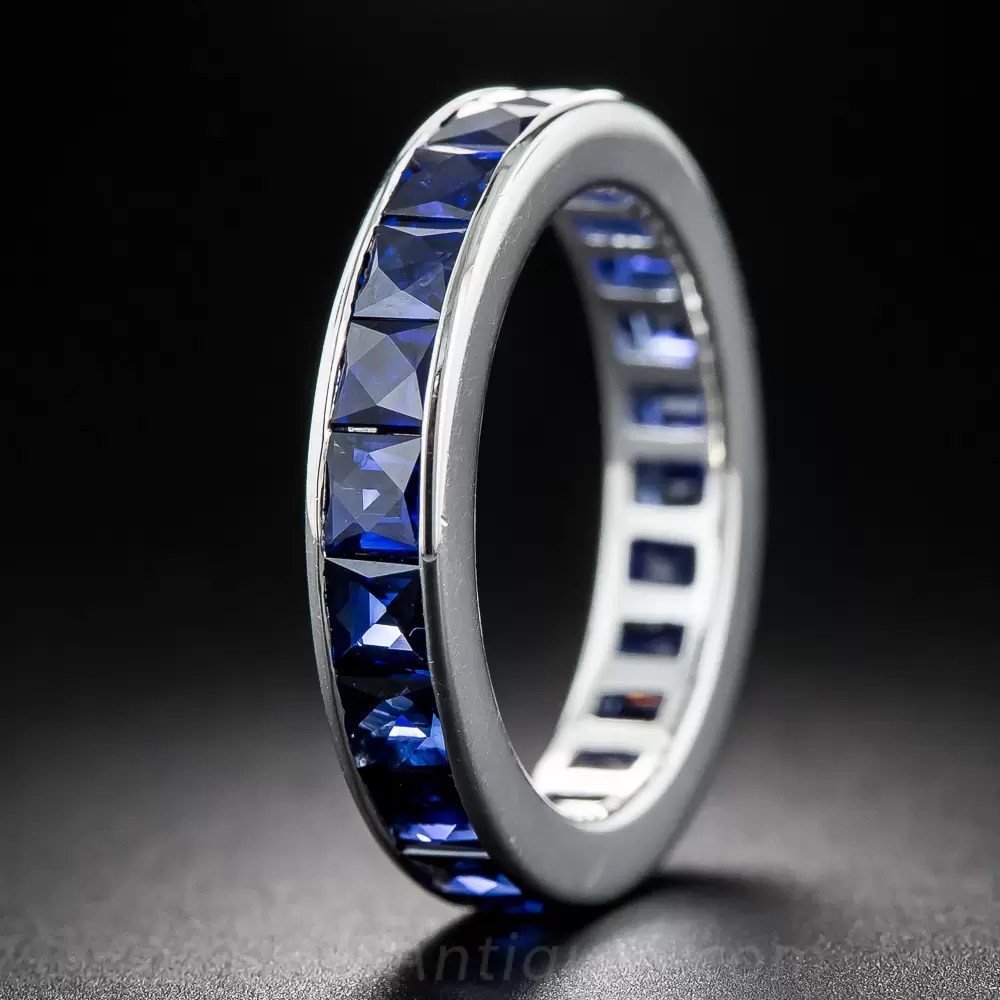 French Cut Sapphire Eternity Band Size 6