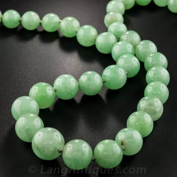 Natural Jadeite Burma 6.9-11mm Graduating Green Jade Bead