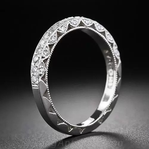 Tacori Vintage Style Platinum Diamond Wedding Band