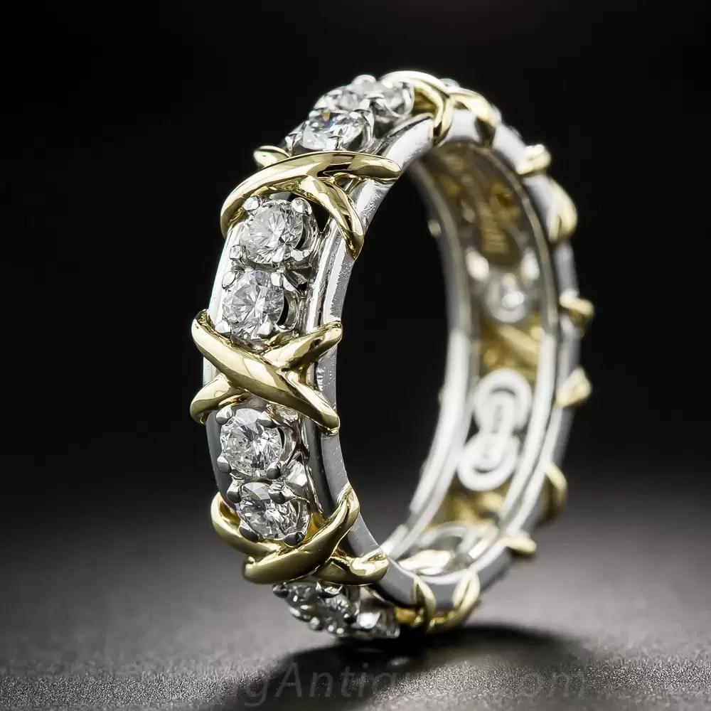 Tiffany Schlumberger Diamond X Wedding Band