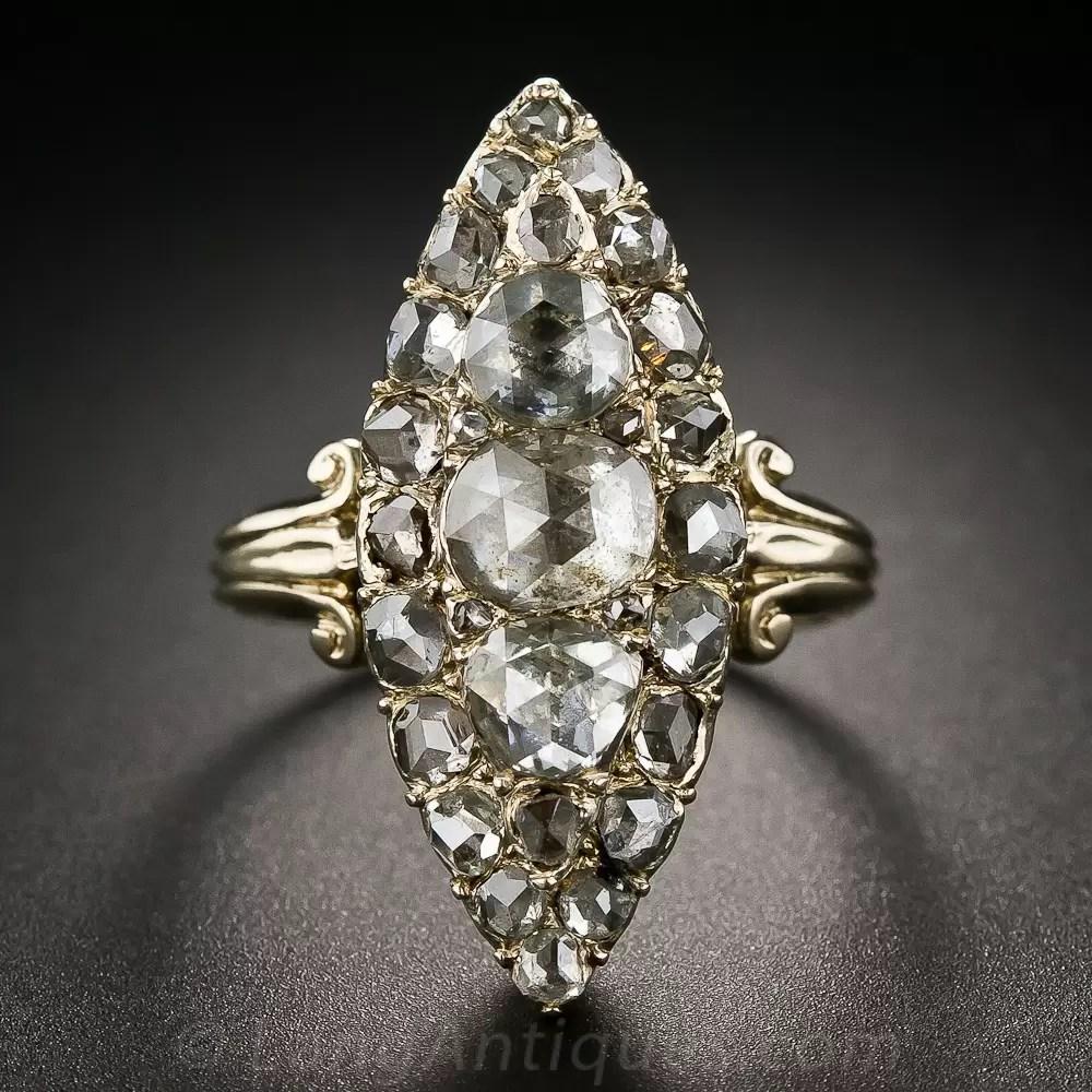 Victorian Retrospective RoseCut Diamond Ring  Antique  Vintage Diamond Rings  Vintage Jewelry