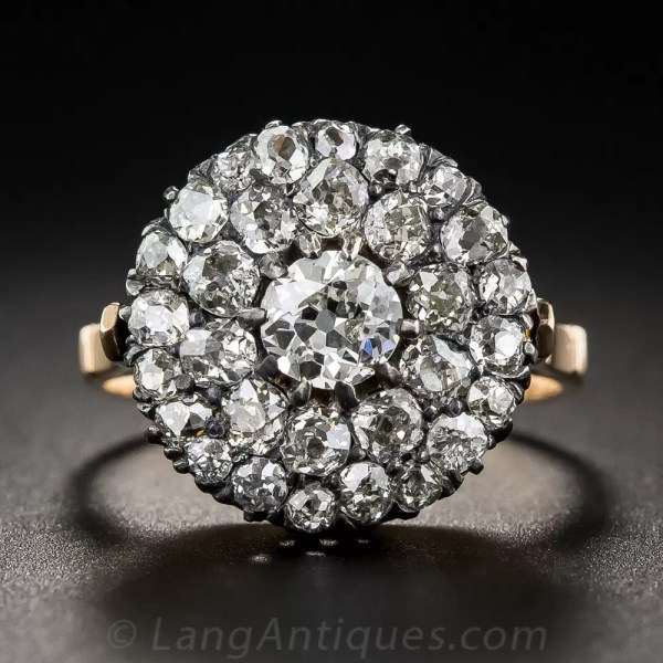Victorian Cluster Diamond Ring