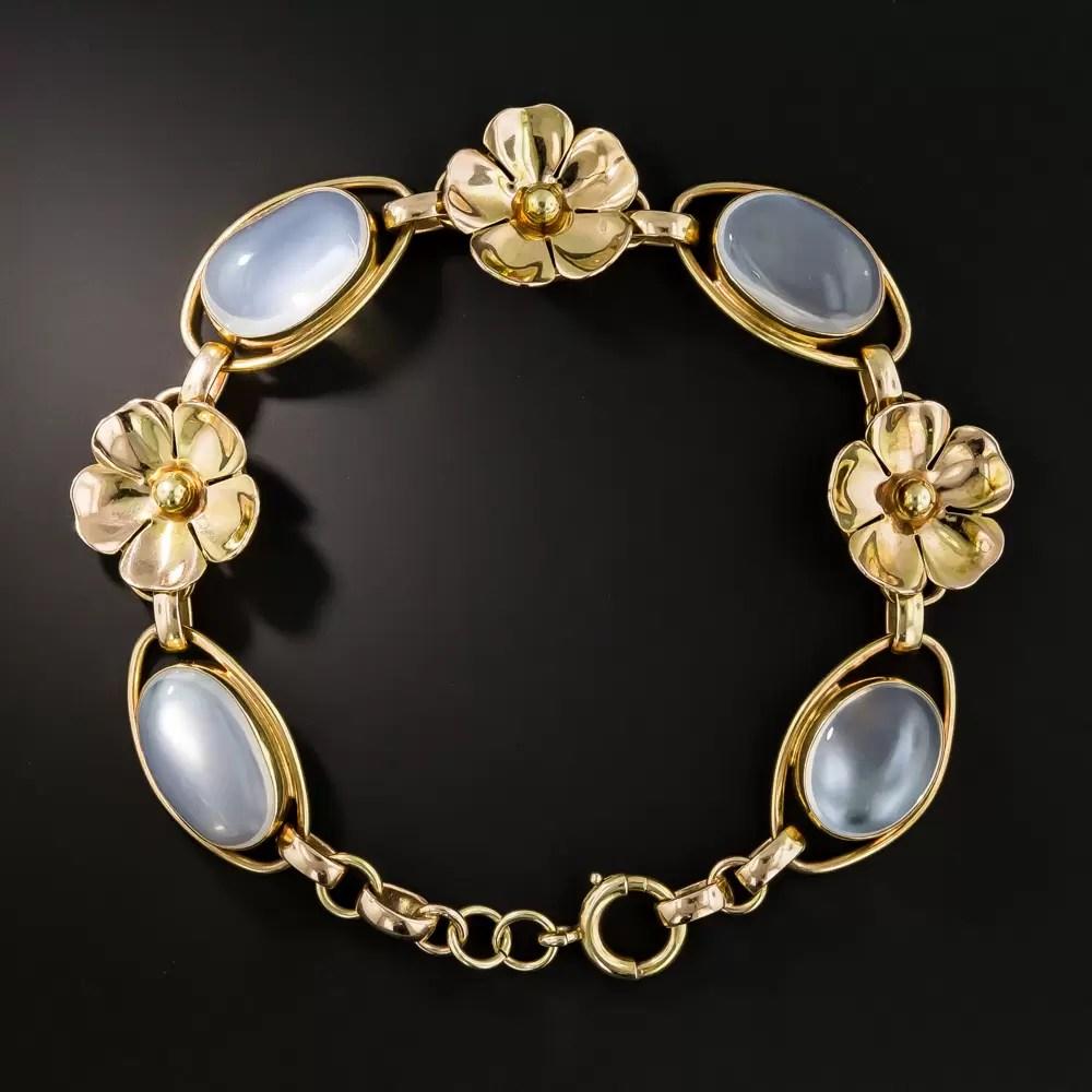 Vintage Moonstone Bracelet  Vintage Jewelry