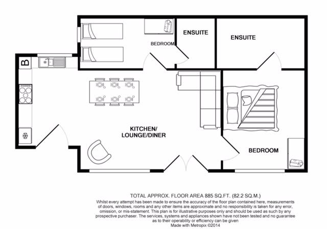 floorplan of the cottage