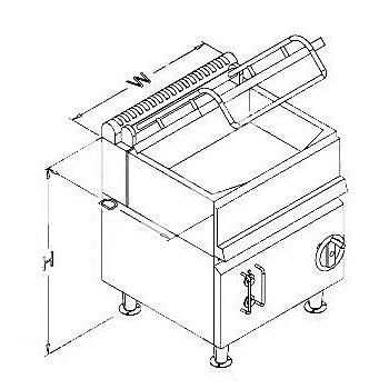 Marine Tilting Frying pan,Tilting Electric Frying Pan