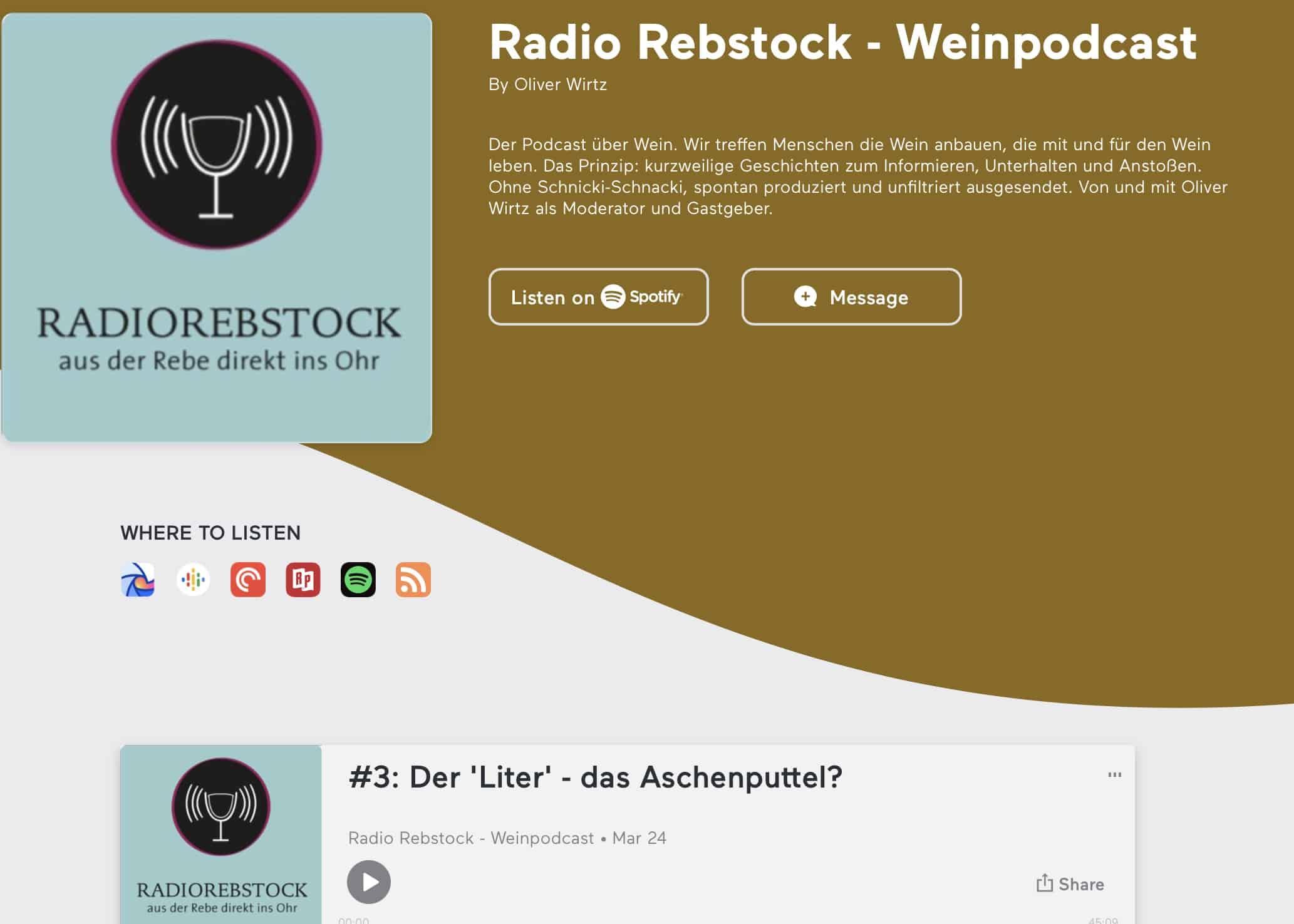 Radio Rebstock #3 – die 'Literklasse'