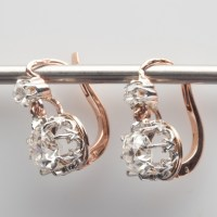 Old Cut White Diamond Earrings - Natural Colored Diamond ...