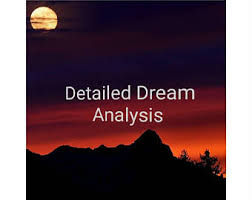 Picture of detailed dream analysis