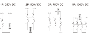 DC circuit breaker dedicated to multi string photovoltaic