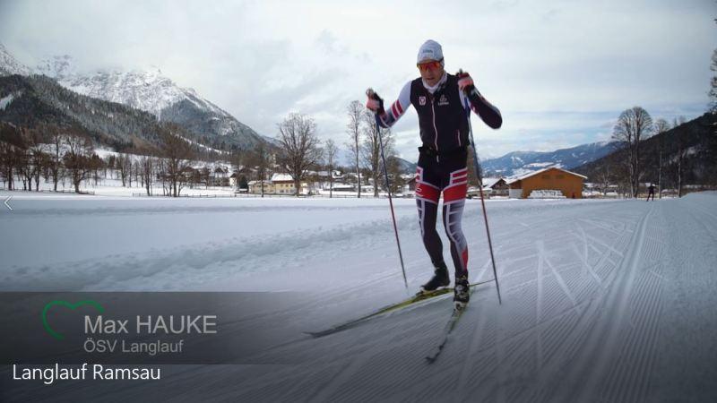 Max Hauke auf der Snowfarming Loipe in Ramsau
