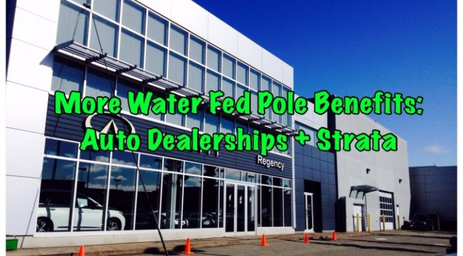Cleaning Windows at Auto Dealerships