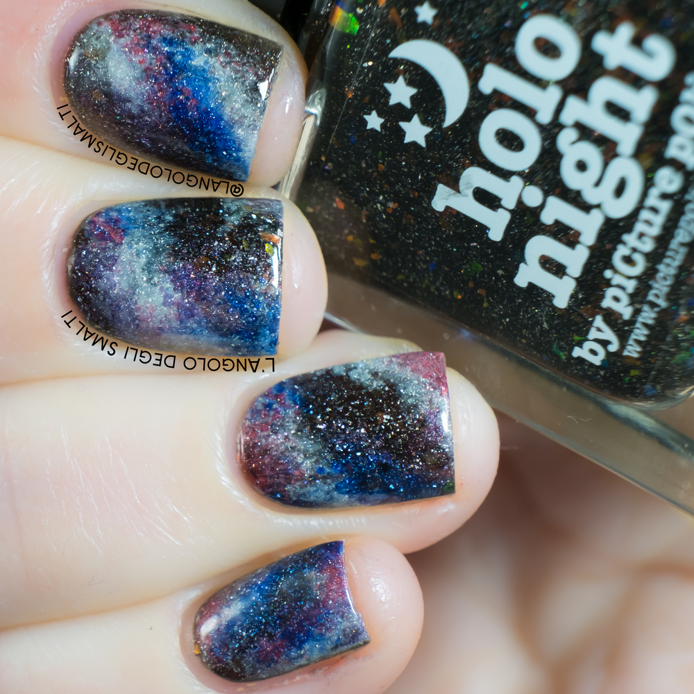 Galaxy Nails with piCture pOlish