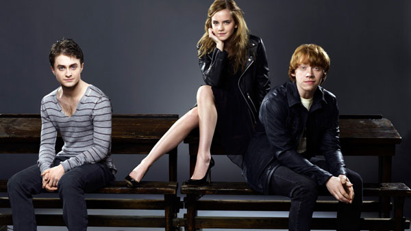 harry, hermione e ron