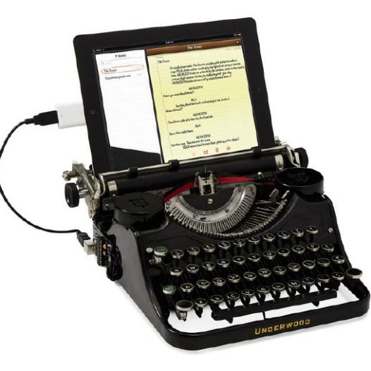macchina da scrivere con usb per tablet