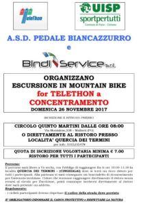 Escursione MTB for TELETHON Maliseti (PO) @ Circolo Quinto Martini | Prato | Toscana | Italia