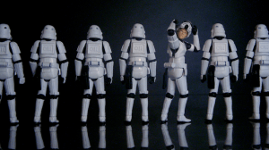 image of stormtroopers with one that is different from others to depict the metaphor of repetition in healthcare translations