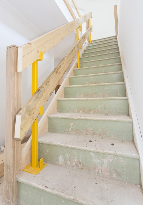 Stair Safety Post Handrail Safety Post Langtons | Portable Stairs With Railing