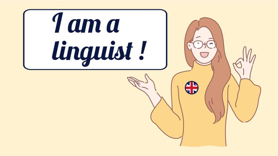 Je m'identifie parfaitement au terme de 'linguist', au sens anglais du terme, bien plus qu'au terme de polyglotte