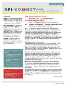 NPI Connect Newsletter in French