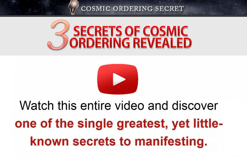 3 Secrets of Cosmic Ordering