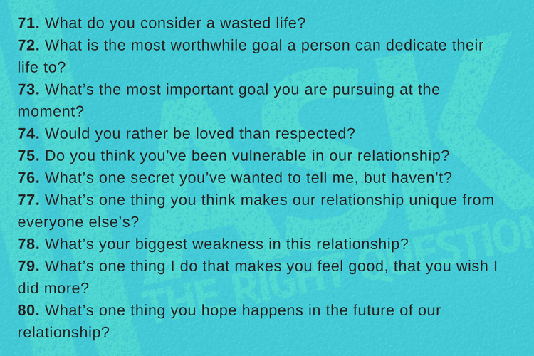 Scenarios to ask your boyfriend