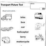 Транспорт - Соедини названия с картинками 2