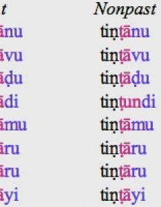 The marker of past tense is represented as and non  latter expresses an habitual or future meaning also telugu rh languagesgulper