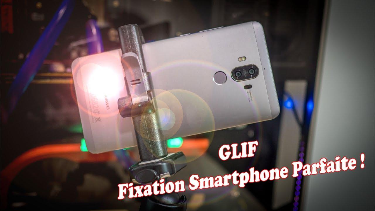 Glif : Fixation pour smartphone sur trépied sécurisé et extensible