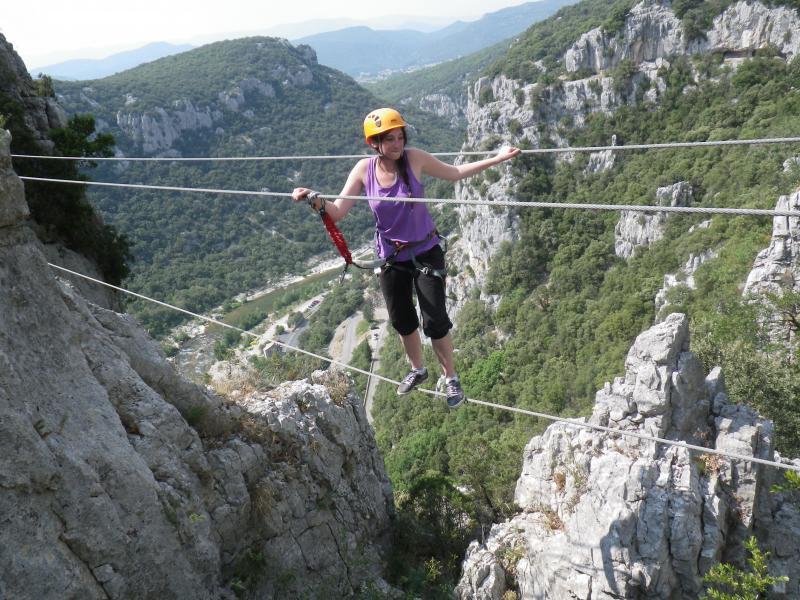 Via ferrata Herault via Ferrata du Thaurac  Languedoc Canyoning