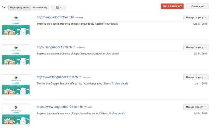 Revised List with HTTPS Sites Added in Google Webmaster Console