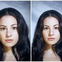 Portraits angezogen vs. nackt