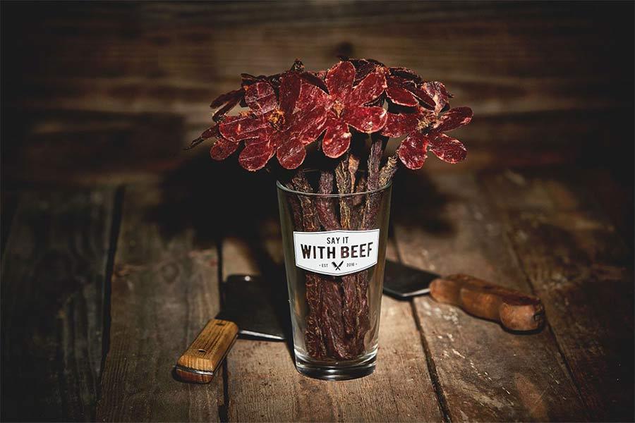 Lecker Blumen aus Wurst