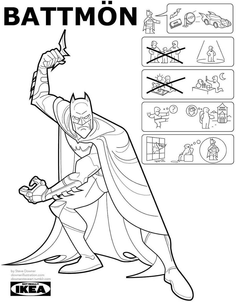 Superheldencomics als IKEA-Anleitung