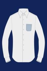 Chemise avec une poche arrondie