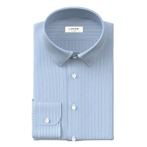 Light Blue Stripe Shirt by Thomas Mason
