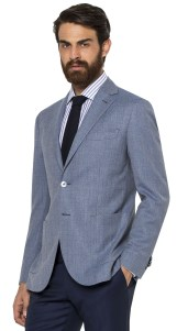 broken suit light blue jacket
