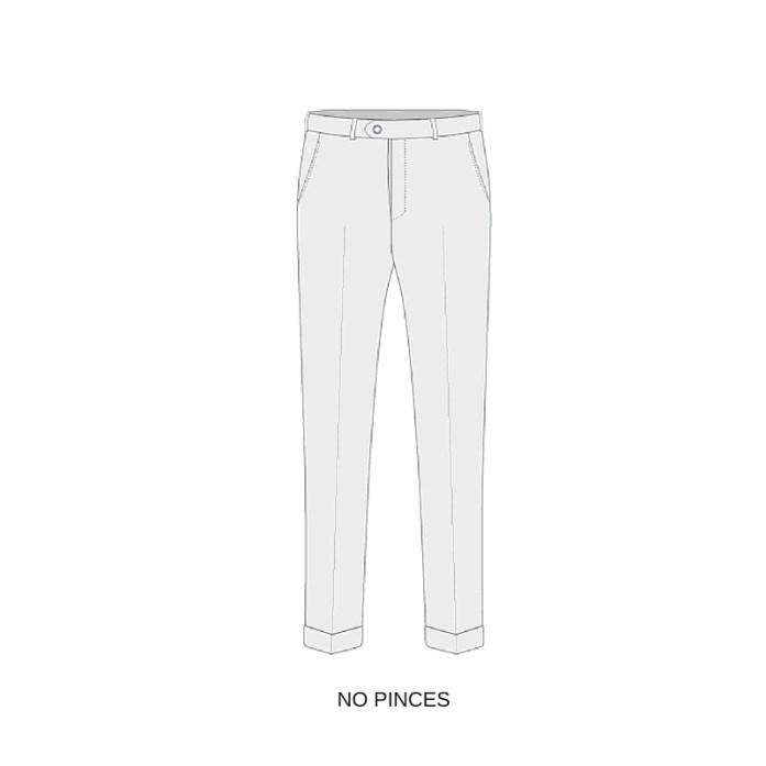 esempio di pantalone senza pinces