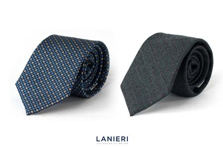 cravatta fantasia e cravatta grigia