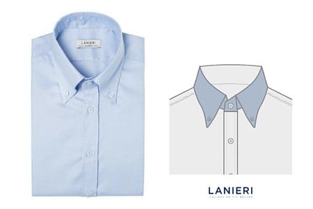 camicia con Colletto button down lungo