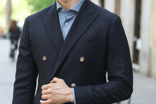 blazer blu doppiopetto
