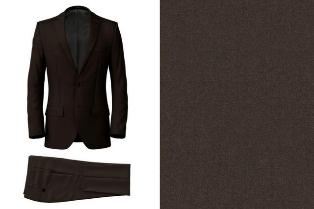 Super 160's Tobacco Suit
