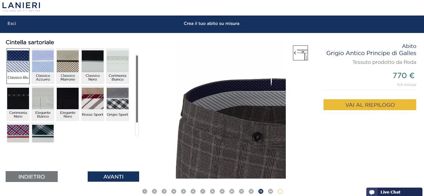 Clicca, personalizza e indossa: è online il configuratore