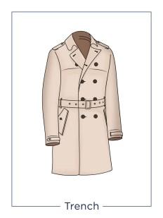 Cappotto da uomo modello Trench