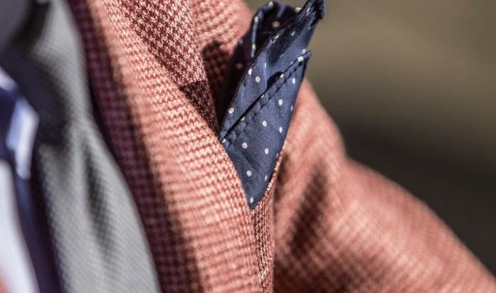 pochette uomo blu giacca marrone