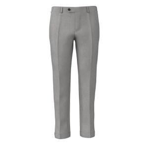 Pantalone Grigio Perlato Lana Seta di Tallia Delfino