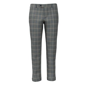 Pantaloni su Misura da Uomo Grigi Finestrati 150's