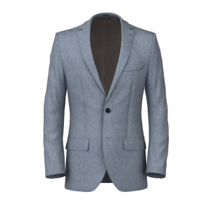 Denim Cotton Silk Jacket Lanificio Subalpino