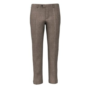 150's Brown Oxford Trousers Fabric produced by Drago