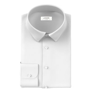 Natural Stretch White Shirt Fabric produced by Grandi & Rubinelli
